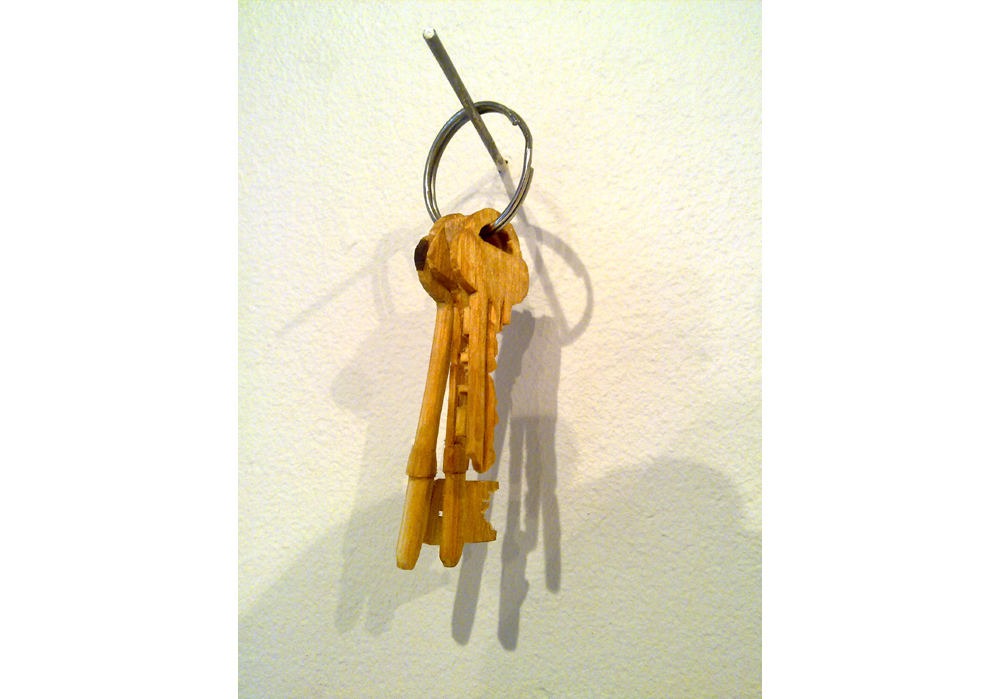 Homework, 2011, Who took all the keys? Steel, 10 x 5 x 3 cm, Lund