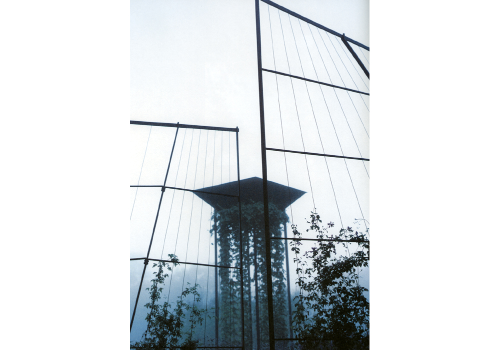 Blue Garden, 2002, steel, cable, concrete, 14 x 14 x 6 m, Stockholm/Enköping