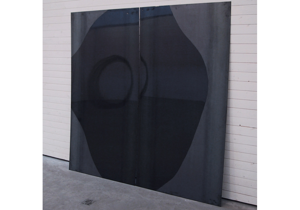 Plates, 2001, steel, paint, 2 x 2 m