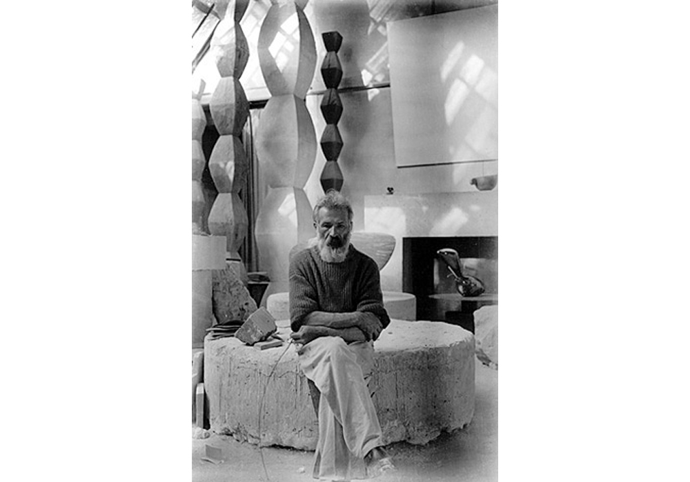 Brancusi, self portrait from his studio in 1933-34
